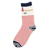 Seaside crew length Lighthouse Socks | LaBelle's General Store