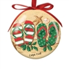 I love this flip flop designed shatterproof Cape Cod Ball Ornament! | LaBelle's General Store
