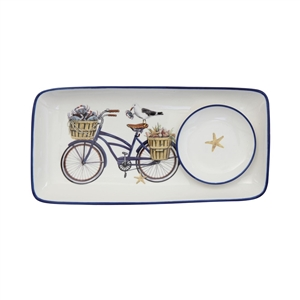 I love giving this seagull + bicycle plate set as a housewarming gift with a jar of cranberry pepper jam!