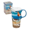 For the bird-lover! Shore Birds Ceramic Travel Coffee Mug, Gift Boxed | Dishwasher & Microwave safe | LaBelle's General Store