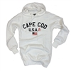 American Flag, comfort & style | White Cape Cod Hoodie Sweatshirt | LaBelle's General Store