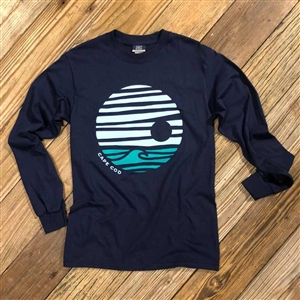 Cape Cod Long Sleeve Tee - Wave - Navy | LaBelle's General Store