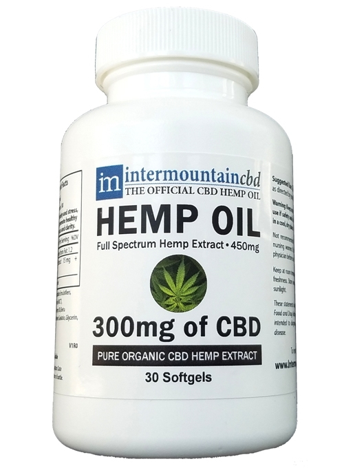 CBD Hemp Oil - 300 mg - softgels