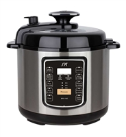Sunpentown 6.5-Quart Stainless Steel Electric Pressure Cooker