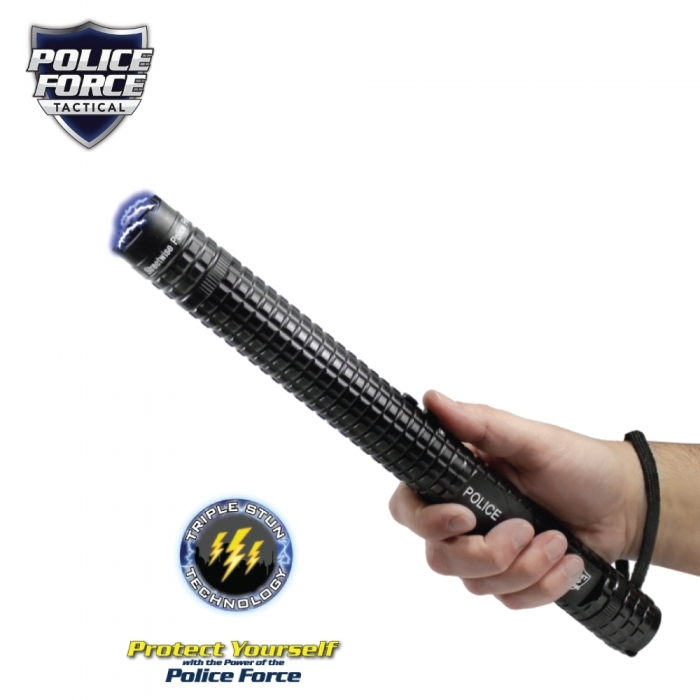 Police Force 12,000,000* volt Tactical Stun Gun Baton Flashlight