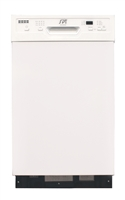 "Sunpentown 18"" Built-In Dishwasherw/Heating Drying - Energy Star - White"