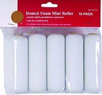 Consumer Domed Foam Mini Roller 10-Pack