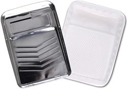Bright Metal Paint Tray & Tray Liner