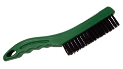 Shoe Handle Green Plastic Wire Brush