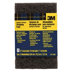 "3M 3-7/8"" x 6"" x 1/2"" 3M 10112 Heavy Duty Contour Surface Stripping Pads 2-Pack 10112"