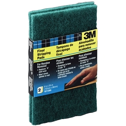 "3M 6"" x 3-7/8"" Heavy Duty Final Stripping Pads 2-Pack 10113"