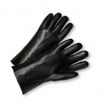 West Chester Black PVC Coated Cotton Lined Gloves