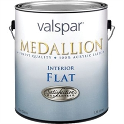 Valspar Medallion Interior Acrylic Latex Paint Gallon Flat White 1400
