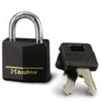 Master Lock Brass & Black Padlock 141D