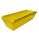 Plastic Mud Pan Removable Steel Blades