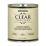 Rust-Oleum Metallic Accents Satin Clear Top Coat Quart 253613
