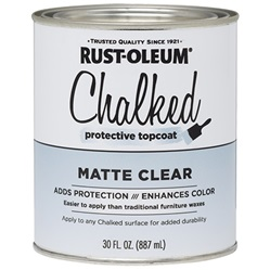Rust-Oleum Chalked Protective Top Coat Matte Clear 30 Oz 287722