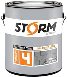 Storm System Category 4 100% Acrylic Stain Gallon White 41200