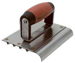 "Marshalltown 6"" x 5"" Stainless Steel Safety Step Edger/Groover 4280D"