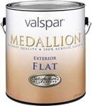Valspar Medallion Exterior Acrylic Latex Paint Flat White 45501