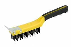 Hyde Tools Wire Brush with Scraper 1-1/4""