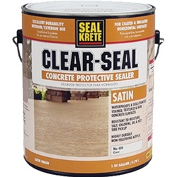 Seal-Krete Clear-Seal Concrete Protective Sealer Satin Gallon 604001