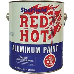 Sheffield Red Hot Aluminum Paint Gallon 6319