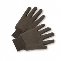 West Chester Brown Jersey Gloves