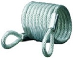 Master Lock 6' Self Coiling Cable with Loops 65D