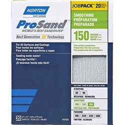 "Norton 9"" X 11"" ProSand Sandpaper Pack of 20"