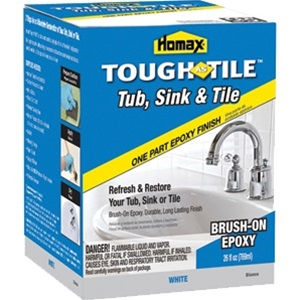 Homax Tub Tile BrushOn Epoxy Finish - Epoxy paint for sinks and tubs