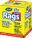Scott White Rags In a Box 200 Count 75260
