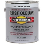 Rust-Oleum Professional Flat White Clean Metal Primer Gallon 7780402