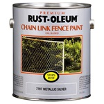 Rust-Oleum Stops Rust Chain Link Fence Paint Gallon Metallic Silver 7787402