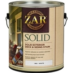 UGL ZAR Solid Color Deck & Siding Stain Gallon White 86513
