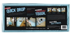 Trimaco 2' X 7' One Tuff Quick Drop Folding Drop Cloth 90027