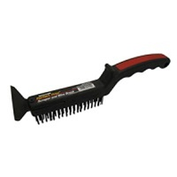 GAM Perfect Prep Long Handle Wire Brush with Scraper BW-01450