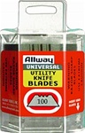 Allway Tools 3 Notch Utility Knife Blades 100 Pack DSP100