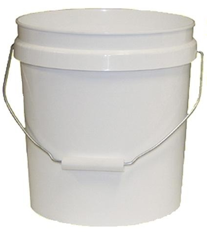 2 Gallon White Plastic Paint Pail