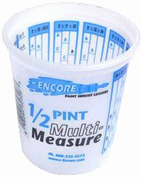 Plastic Mix & Measure 1/2 Pint Container