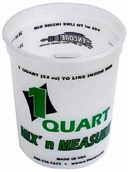 Plastic Mix & Measure Quart Container
