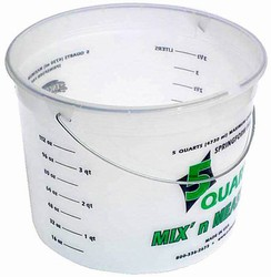 Plastic Mix & Measure 5 Quart Container