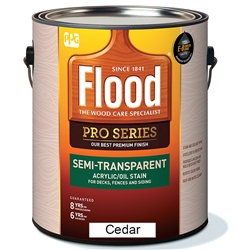 Flood Pro Series Semi-Transparent Acrylic/Oil Stain Gallon
