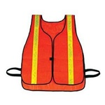 Hygrade Safety Vest With Lime Reflective Stripes