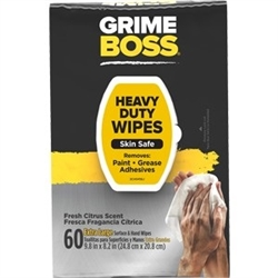 Grime Boss Original Citrus Scent Heavy Duty Wipes 60 Ct M956S8X