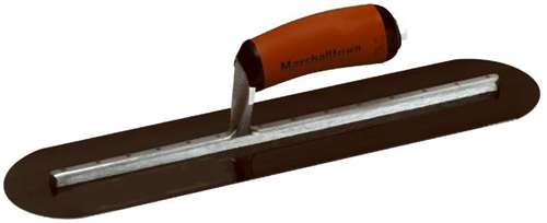 "MARSHALLTOWN 14/"" by 4/"" Blue Steel Finishing Trowel Fully Rounded"