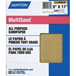 "Norton 9"" X 11"" Multisand All Purpose Sandpaper Pack of 25"