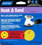 "Norton 5"" X 5 & 8 Hole Universal Vac Hole Sand Disc 4 Pack"