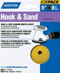 "Norton 5"" X 8 Hole Hook & Sand Disc 25 Pack"