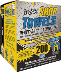 Intex Blue Heavy Duty Shop Towels 200 Count
